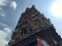 arte famosa do templo de singapore Fotografia de Stock