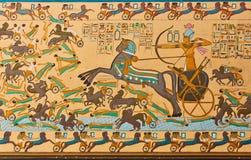 Arte faraonica egiziana antica Fotografia Stock