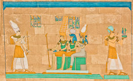 Arte faraonica egiziana antica Immagini Stock Libere da Diritti