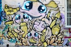 Arte feliz Bucareste da rua Imagens de Stock