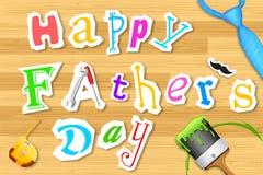 Arte feliz del día de padre ilustración del vector