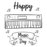 Arte feliz del vector de la celebración del día de la música ilustración del vector