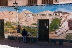 Arte fina da rua no norte de Argentina, estilo do gaúcho imagens de stock royalty free
