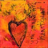 Arte -final do coração Fotografia de Stock
