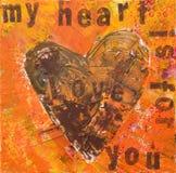 Arte -final do coração Fotos de Stock