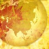 Arte -final do mapa-vintage de Ásia Foto de Stock