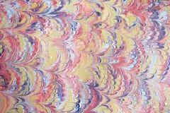 Arte -final do papel marmoreado Fotografia de Stock