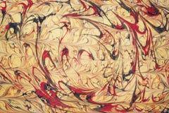 Arte -final turca tradicional do papel marmoreado Imagens de Stock Royalty Free