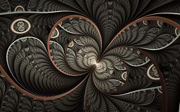 Arte finala abstrata bonita do fractal com detalhes Ilustração floral para a arte ilustração royalty free