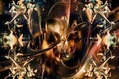 Arte finala artística abstrata original do Fractal como um fundo ilustração do vetor