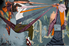 Arte finala colorida dos grafittis como a arte da rua em Melbourne, Austrália Imagens de Stock Royalty Free