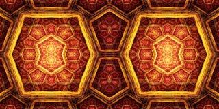 Arte finala colorida gerada por computador dos testes padrões dos fractals das caixas do sumário 3d ilustração royalty free