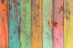 A arte finala colorida pintada no material de madeira fotos de stock