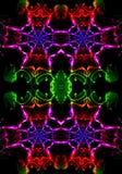 Arte finala colorido artística gerada por computador bonita abstrata original dos testes padrões do fractal 3d ilustração do vetor
