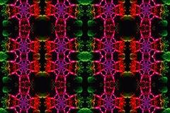 Arte finala colorido bonita artística gerada por computador dos testes padrões do fractal do sumário 3d ilustração do vetor