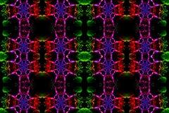 Arte finala colorido bonita artística gerada por computador original dos testes padrões do fractal do sumário 3d ilustração stock