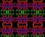Arte finala colorido bonita gerada por computador artística original dos testes padrões do fractal do sumário 3d ilustração royalty free