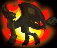 Arte finala da asa rápida - dragão do fogo ilustração do vetor