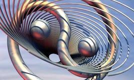 arte finala da ilustração 3D do cenário virtual Ilustração Stock