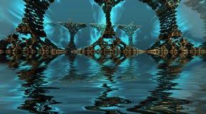 arte finala da ilustração 3D do cenário virtual Ilustração do Vetor