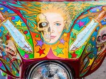 Arte finala da motocicleta em vibrações da rua fotografia de stock royalty free