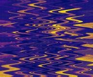 Arte finala da pintura a ?leo Arte abstrata dos cursos da escova Folha ondulada da arte do cen?rio da natureza ilustração do vetor