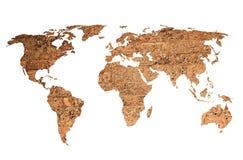 Arte finala do vintage do mapa do mundo Imagens de Stock Royalty Free