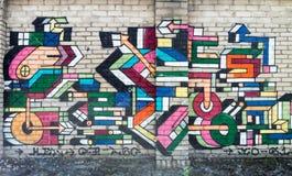 Arte finala dos grafittis nas ruas de Tallinn fotografia de stock royalty free