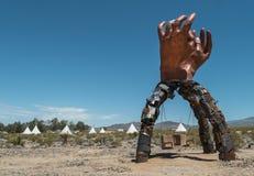 Arte finala estranha, Nipton, Califórnia imagem de stock