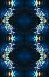 Arte finala gerada por computador ondulada artística do Fractal 3d do sumário original como um fundo ilustração royalty free