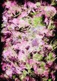 A arte finala iimpressionistic abstrata tirada mão no acrílico e na aquarela pinta o estilo com cor-de-rosa, o claro - pontos ver ilustração do vetor