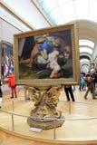 Arte finala impagável, 'David e colosso' vistos no Louvre, Paris, França, 2016 Foto de Stock Royalty Free