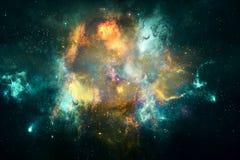 Arte finala lisa colorido artificial bonita da galáxia da nebulosa do sumário ilustração royalty free