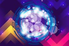 Arte finala moderna colorida artística em um fundo colorido artístico do sumário ilustração stock