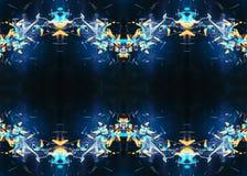 Arte finala ondulada gerada por computador artística original do Fractal 3d do sumário como um fundo ilustração stock