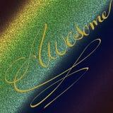 Arte finala textured bicolor da rocha Textura do fundo de Grunge Folha da arte para vários olhares A caligrafia do ouro gravou ilustração royalty free
