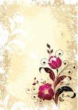 Arte floral ilustração stock