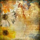 Arte floral de Gruge Foto de archivo