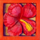 Arte floral de piedra Imágenes de archivo libres de regalías