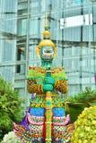 Arte floral, pero un gigante en Tailandia Foto de archivo