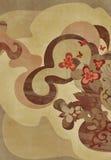 Arte floral terroso Foto de archivo