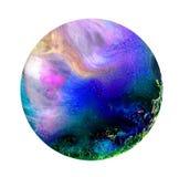 Arte fluida em um prato de petri Álcool colorido, tinta, bactérias coloridas de vida em um prato de petri Imagens de Stock