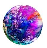 Arte fluida em um prato de petri Álcool colorido, tinta, bactérias coloridas de vida em um prato de petri Fotos de Stock