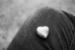 Arte, foco suave, día blanco y negro del ` s de la tarjeta del día de San Valentín Foto de archivo