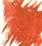 Arte Fondo del color rojo de la pintura de la acuarela Planeta hermoso Imagen de archivo