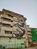 Arte gemellata della elefante-via a Bangkok Fotografia Stock Libera da Diritti