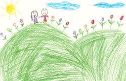 Arte genuina del bambino Fotografia Stock Libera da Diritti