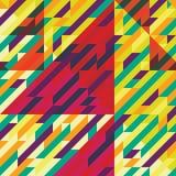 Arte geométrico del color del modelo Fotografía de archivo