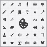 Arte, grupo universal dos ícones do projeto ilustração do vetor
