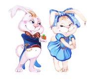 Arte handdrawing del coniglietto del coniglio di divertimento Fotografia Stock